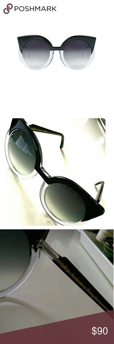 PRICE DROP ⬇⬇⬇⬇ Fora Dry Crystal Black Sunglasses FORA Sunglasses are handmade in Portugal from Italian Mazzuchelli acetate. These sunglasses are unisex eyewear with Carl Zeiss Vision Lens. Excellent condition.  - Handmande in Portugal  - Carl Zeiss Vision Lenses  - Dark Grey Gradient Lenses  - Collaboration with Lus Carvalho  - Comes with Soft Box and Cleaning Cloth  - Size: 56?Eye / 20?Bridge / 140?Temple  - See more at: http://www.fora.pt/product/34#sthash.H5S135lN.dpuf FORA Accessories…