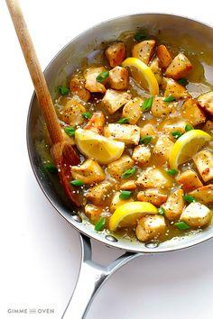 Skinny Honey Lemon Chicken #recipe from @gimmesomeoven