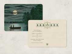 Rustic Wedding Invitation or Save the Dates Vintage by GoGoSnap. Coolest.