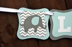 Elephant Baby Shower Banner, Personalized Chevrone Name Banner, It's A Boy, Little Peanut, Custom Birthday Banner, Custom Decorations by CelebrateCustomEvent on Etsy