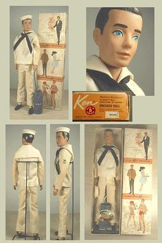 Vintage Ken Doll Dressed Box Sailor #796.  Ken began to have a life other than just the boyfriend. Here he is as a sailor.