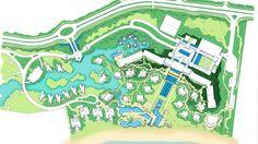 (PE) Cabo de Santo Agostinho | Reserva do Paiva | Four Seasons Paiva Hotel & Resort - SkyscraperCity Landscape Plans, Landscape Design, Garden Design, Hotel Bedroom Design, Garden Deco, Resort Villa, Design Language, Master Plan, Urban Planning