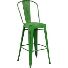 green modern bar stool with back - Google Search