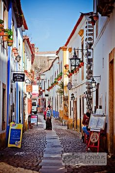 Obidos, Portugal -- Each July Óbidos castle hosts a traditional Medieval Market… Visit Portugal, Spain And Portugal, Portugal Travel, Places To See, Places To Travel, Tourist Places, Europe, Surfer, Roadtrip