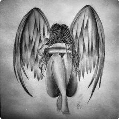Жінка wings drawing, angel drawing, sad drawings, pencil drawings, halo t. Sad Drawings, Dark Art Drawings, Pencil Art Drawings, Art Drawings Sketches, Wings Drawing, Angel Drawing, Angel Artwork, Drawing Techniques, Angels