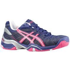 asics gel resolution 4 navy/purple womens shoes