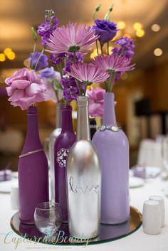 Best Diy Wedding Decorations For Reception Crafts Bridal Shower 60 Ideas Mardi Gras Centerpieces, Wine Bottle Centerpieces, Palm Beach Wedding, Lilac Wedding, Wine Bottle Crafts, Bottle Art, Diy Wedding Decorations, Wedding Centerpieces, Wedding Ideas