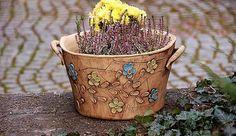 velký  květináč-pnoucí kytka-na objednávku!!!