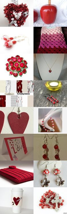 Love is in the air... by Rachel on Etsy--Pinned with TreasuryPin.com Cup Sleeve, Mood Boards, Valentine Day Gifts, Goodies, Hearts, Brooch, Love, Bracelets, Easy