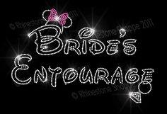 BRIDES ENTOURAGE Disney Style Rhinestone Iron On Minnie Mouse Ears. via Etsy.