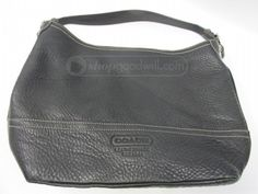 shopgoodwill.com: Coach Black Pebble Leather Tote Bag AUTHENTICATED