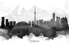 Digital abstract drawing of Toronto Ontario Canada skyline. Toronto Ontario Canada, Toronto Skyline, Canvas Prints, Framed Prints, Abstract Drawings, Wood Print, Urban, Wall Art, Digital