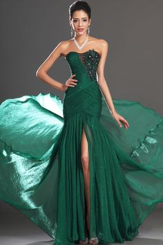 2013 Prom Dresses Mermaid/Trumpet Ruffled Bodice Strapless Chiffon Applique