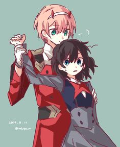 #DarlinginTheFranxx #ZeroTwo #Hiro#Anime 💙❤️ Manga Anime, Anime Art, Namaikizakari, Waifu Material, Zero Two, Anime Love Couple, Darling In The Franxx, Cute Images, Anime Ships