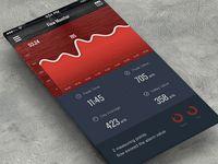 Energy Monitor UI found on Dribbble.