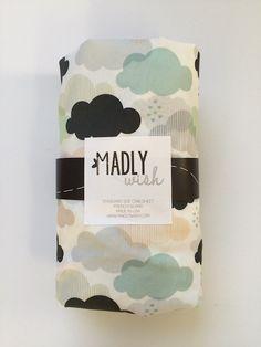 8a90eff5542bf pastel clouds crib sheet – madly wish Monochrome Nursery