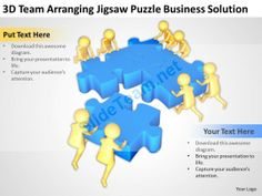3D Team Arranging Colorful Puzzles Business Strategy Ppt Graphics Icons Powerpoint Templates Infographics