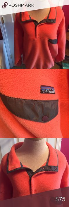 Patagonia Synchilla  pullover men's sz XL Orange & grey Patagonia Synchilla pullover.  Men's sz XL.  GREAT condition!! Patagonia Jackets & Coats Ski & Snowboard