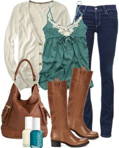 Teal & Cream Outfit <3