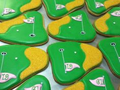 Explore how in order to develop into a much better golf player. Golf now Golf Cupcakes, Golf Cookies, Cut Out Cookies, Cupcake Cookies, Sugar Cookies, Iced Biscuits, Cookies Et Biscuits, Golf Green, Golf Club Covers