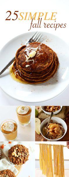 25 Simple Fall Recipes! #fall #recipe #healthy #pumpkin