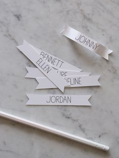 Rosemary Wreath Place Cards | DIY | Spoon Fork Bacon