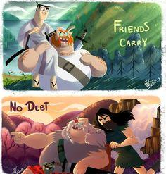 Friends carry no debts | Samurai Jack | Know Your Meme