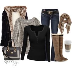"""""""Cozy Winter Outfit"""" by keri-cruz on Polyvore"""