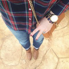 Wearing plaid and my fave fall polish today! �� Shop the look here: �...... @liketoknow.it www.liketk.it/sxhq #liketkit