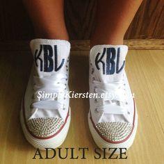 5adfa3e7bf04 Adult Monogrammed Converse All Star ® Sneakers.  monogramconverse  converse   sorority  SimplyKiersten