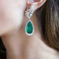 @sothebys. Bright and beautiful. These vivid emerald and diamond earrclips will be offered in our London Fine Jewels Credit: @oliviahowitt #SothebysJewels