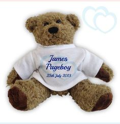 Make personalized teddy bear as a birthday gift with certain text for your friend.