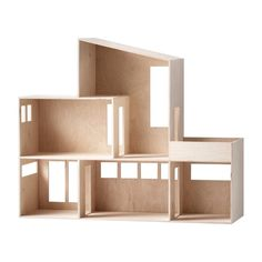 Let your child's imagination soar with Ferm Living reinterpretation of a Miniature Funkis House, beautifully crafted from natural plywood. this stylish storage house are sure to be a hit with children