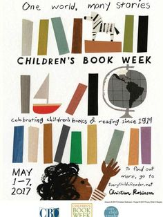 Children's book illustrator Christian Robinson has designed the official poster for the Children's Book Week, which will take place this year May 1 to Book Festival, Festival Posters, Book Cover Design, Book Design, Christian Robinson, Children's Book Week, Library Posters, Museum Poster, Posters Vintage