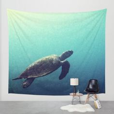 Underwater office tapestry 4. Buy Turtle Wall Tapestry by Rachel's Pet Portraits. Worldwide shipping available at Society6.com. Just one of millions of high quality products available.