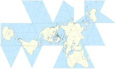Fuller Projection. A Contiguous Landmass.