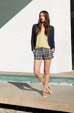 Joie Blazer, Top & Shorts  available at #Nordstrom
