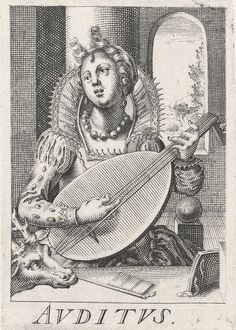 """""""Auditus"""" by Hendrick Hondius (I), 1583-1650"""