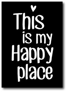 """Kaart """"This is my happy place"""""""