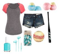 """""""going out to play baseball"""" by sslootweg14 ❤ liked on Polyvore featuring maurices, rag & bone/JEAN, Casetify, Merkury Innovations, Eos and Essie"""