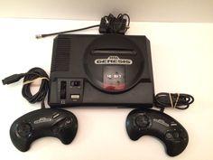 SEGA GENESIS 16 Bit Model Video Game System Console, 2 controllers & TV Cord #SEGA