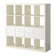 EXPEDIT Aufbewkomb.+Türen/Schubladen, weiß, weiß 129,00