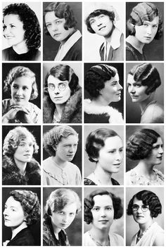 THE VINTAGE THIMBLE — 1930's Hairstyles A collection of 1930's...
