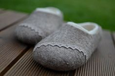 Felted  slippers  (any size) eco friendly