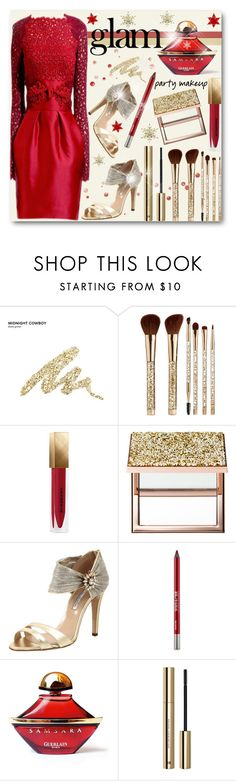 """""""Holiday Party Makeup"""" by brendariley-1 ❤ liked on Polyvore featuring beauty, Urban Decay, Sephora Collection, Burberry, Oscar de la Renta, Zuhair Murad, Naeem Khan, Guerlain, H&M and goglam"""