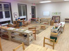Nature Walk Montessori School, Illinois, USA.  Montessori Mozaika, Czech Republic. Wow, so clean and ordered, I love the open shelving!  Bluebell Montessori School, Wembley, UK.  Keystone Montessori,