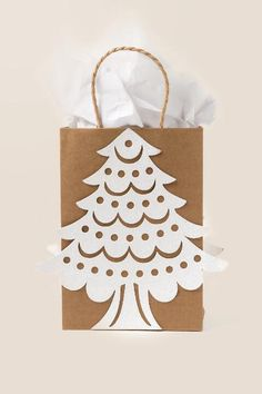 Glitter Tree Medium Gift Bag