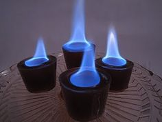 flaming sweet tea vodka jello shots!!  really cool