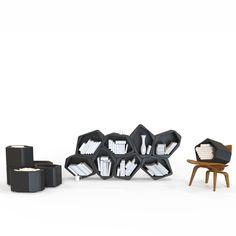 Designer Storage: Build Modular Shelving by Movisi Office Shelving, Modular Shelving, Modular Storage, Built In Storage, Storage Units, Modular Walls, Modular Furniture, Online Furniture, Studio Furniture