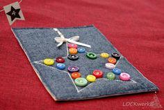 LOCKwerkE: STOFFKARTE Sternstunde Triangle, Felt, Card Crafts, Stars, Repurpose, Felting, Feltro